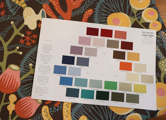 Annie Sloan paint chart colours