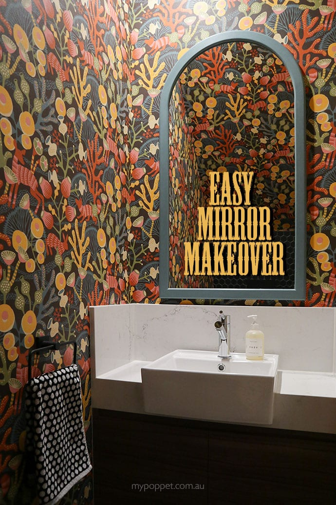 Easy Mirror Makeover with Chalk paint - mypoppet.com.au