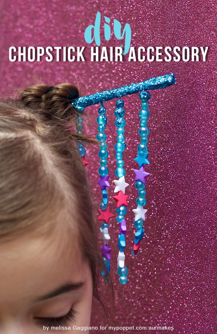 japanese hair pin - DIY Chopstick hair accessory mypoppet.com.au