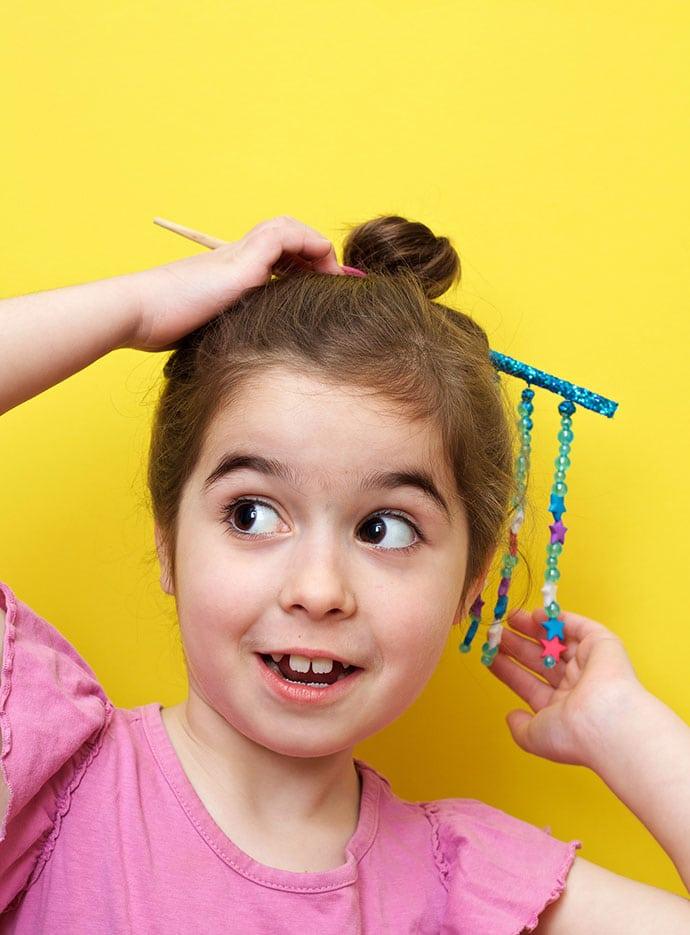 DIY Chopstick Hair accessory - mypoppet.com.au