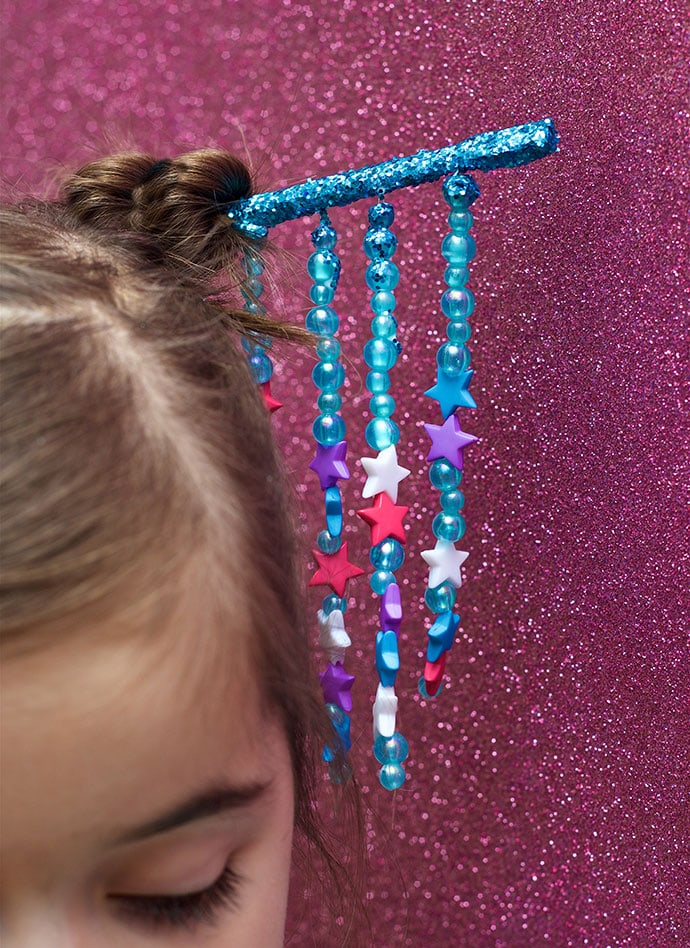 DIY CHopstick hair decoration - mypoppet.com.au