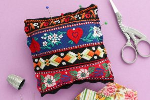 Sew a Vintage Trim Pincushion