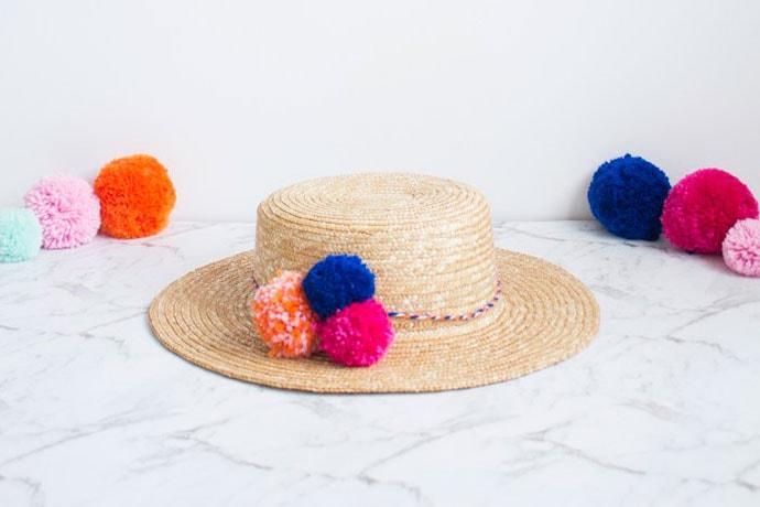 Pom Pom hat - Mypoppet.com.au