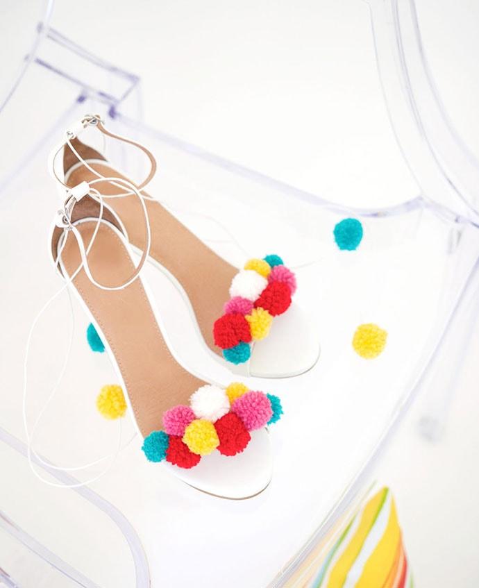 Pom pom summer sandals - mypoppet.com.au