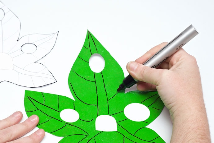 How to make a Korok mask for Halloween- mypoppet.com.au