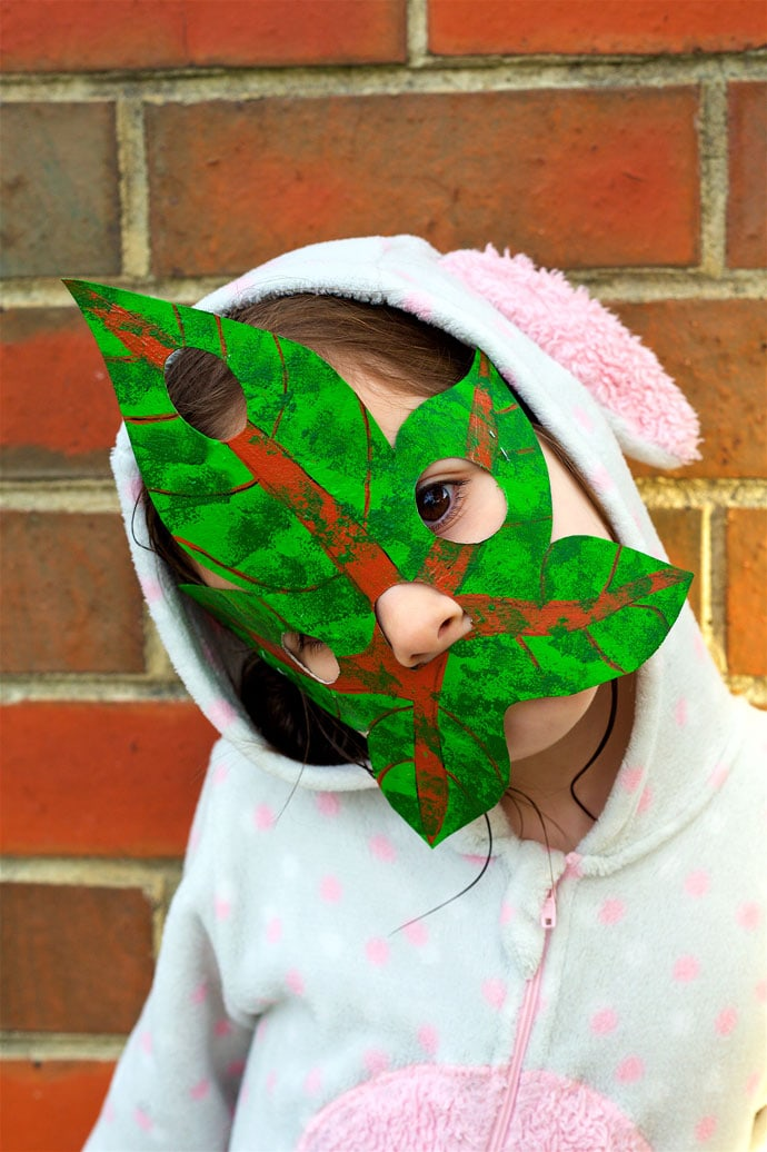 How to make a Korok Halloween costume DIY korok mask - mypoppet.com.au