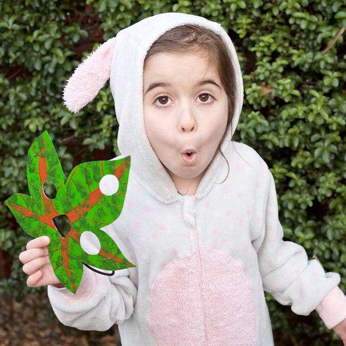 How to make a Korok mask for Halloween- mypoppet.com.au