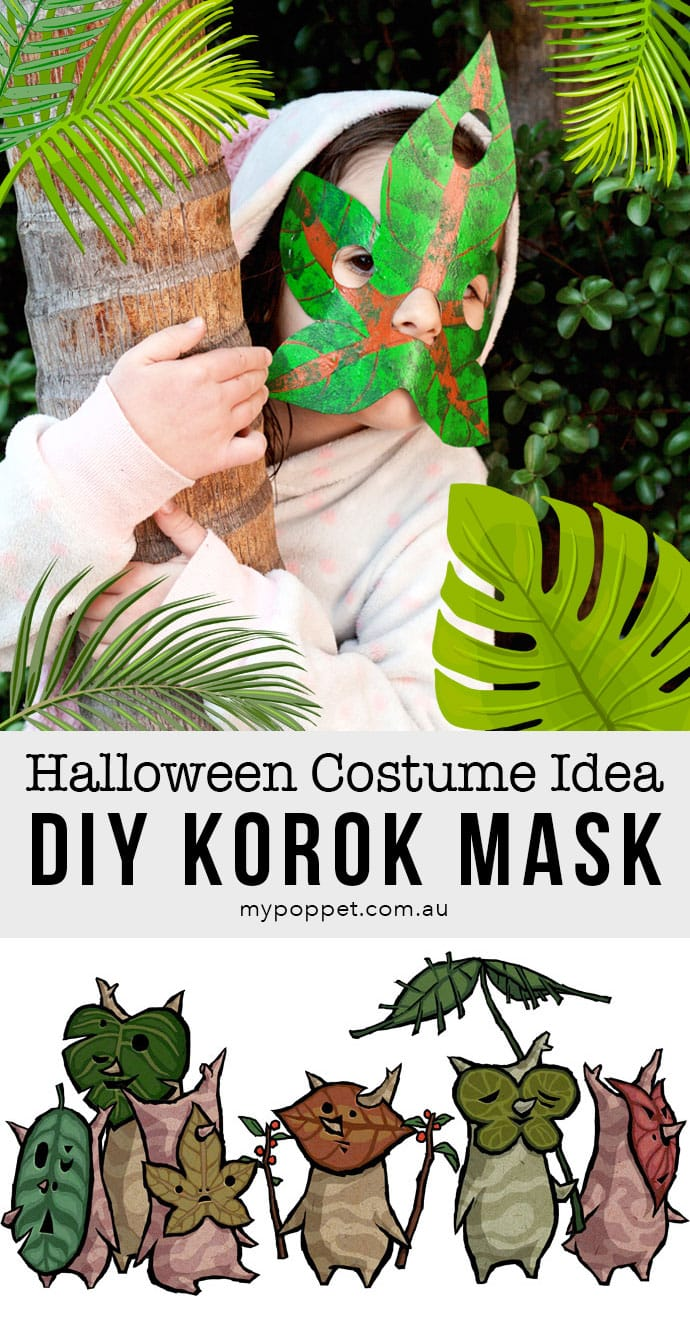 Halloween Korok mask costume idea - mypoppet.com.au