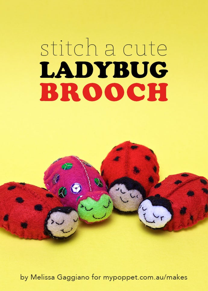 How to make a ladybug toy - mypoppet.com.au