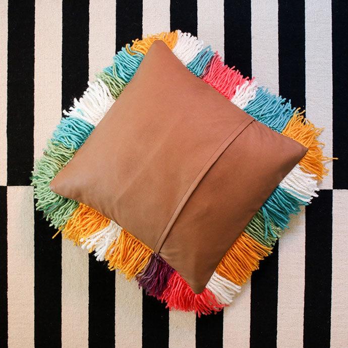 How to make a shaggy cushion - mypoppet.com.au