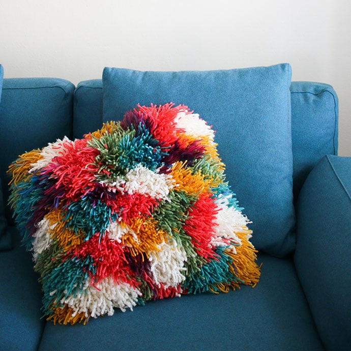 How to make a shaggy cushion - mypoppet.com.au