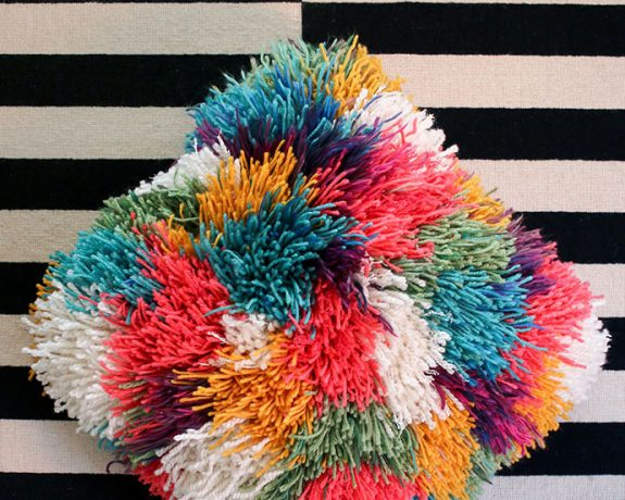 Shaggy pillow cover DIY - mypoppet.com.au
