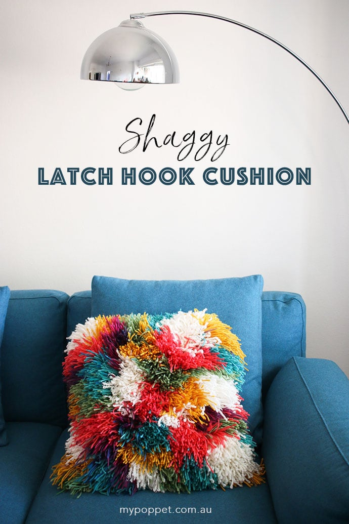Diy Shaggy Latch Hook Cushion Cover My Poppet Makes