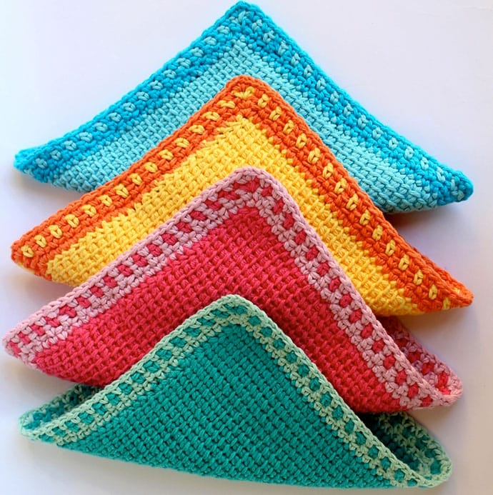 Tunisian Crochet Washcloth pattern - mypoppet.com.au
