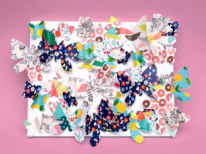 DIY Butterfly canvas art - Mypoppet.com.au