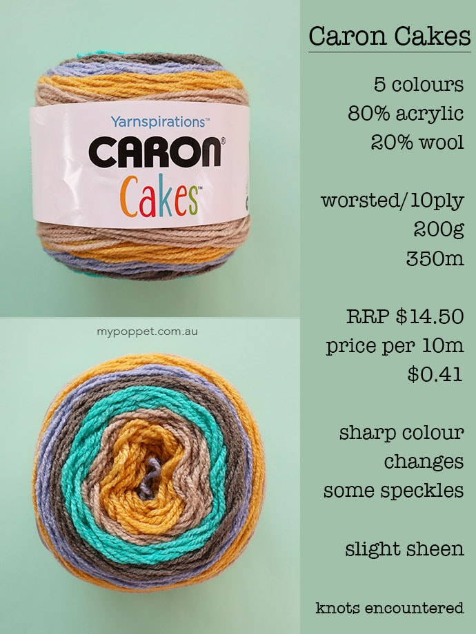 Caron Cakes Yarn Review - mypoppet.com.au