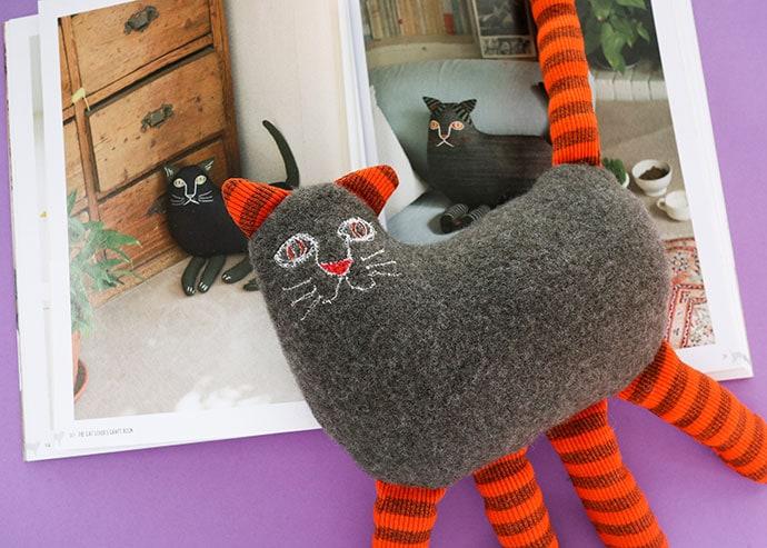 Cat pillow toy - mypoppet.com.au
