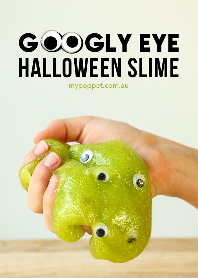 Googly Eye Halloween Slime - Creepy Eyeball Slime - mypoppet.com.au