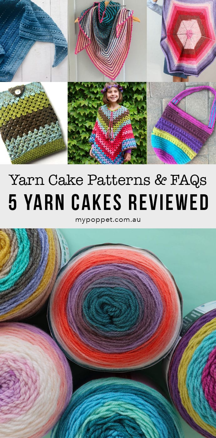 Yarn cake pattern ideas and Yarn cakes review- mypoppet.com.au