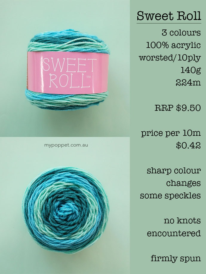 Sweet Roll Yarn Cake Review - mypoppet.com.au