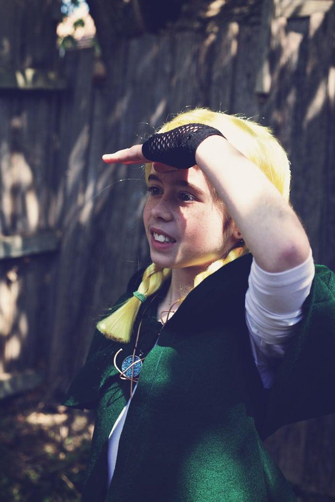 Making Linkle Halloween Costume - mypoppet.com.au