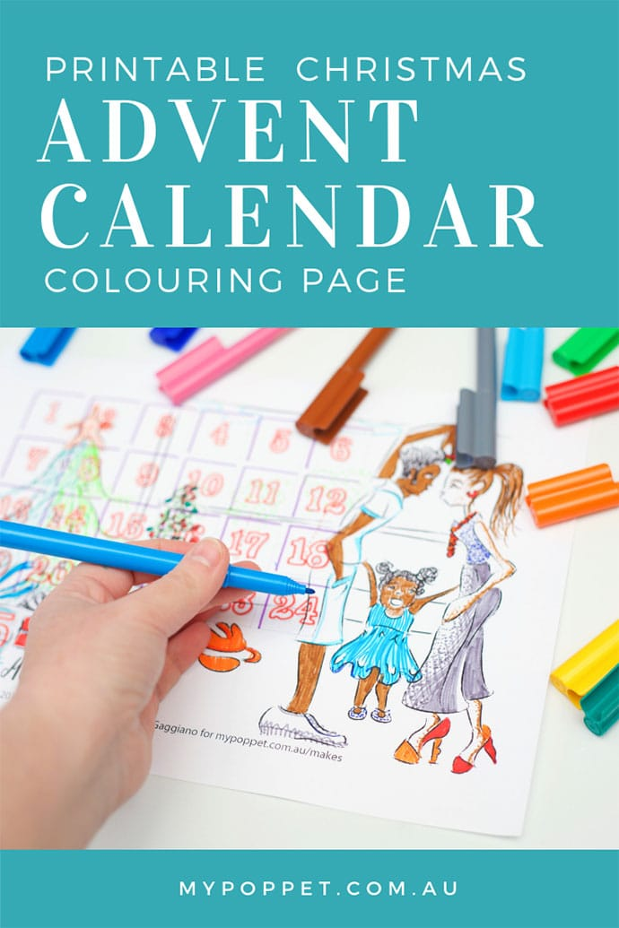 Printable advent calendar - mypoppet.com.au