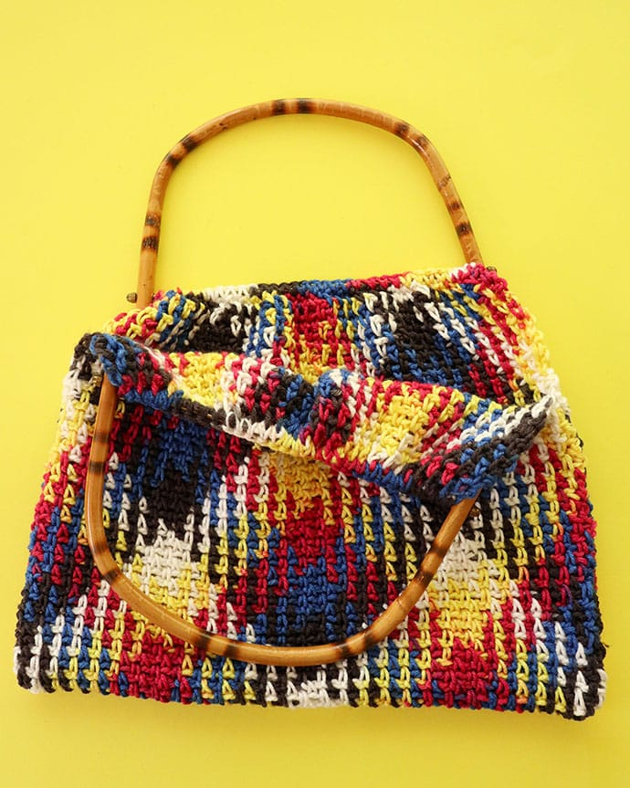 How to attach bag handle.Crochet bag pattern - mypoppet.com.au