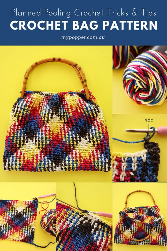 Planned Pooling Crochet bag pattern - Planned pooling troubleshooting tips - mypoppet.com.au