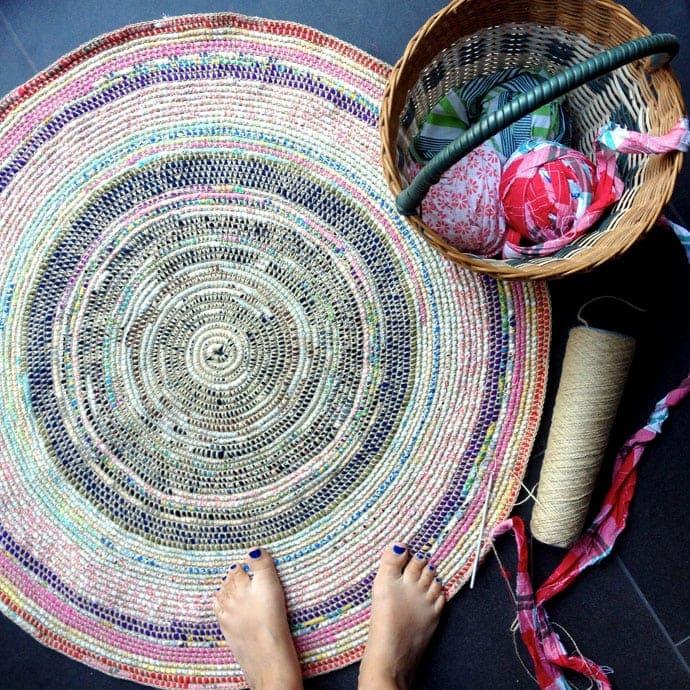 Crochet Rag Rug - mypoppet.com.au