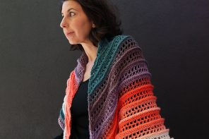 Sunset Peaks – Crochet Shawl Pattern