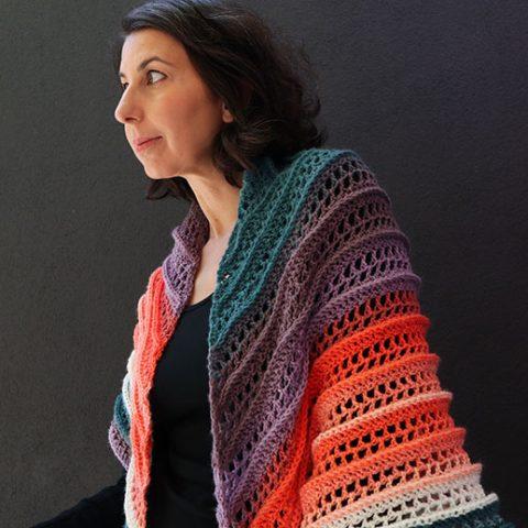 Sunset Peaks – Crochet Shawl Pattern