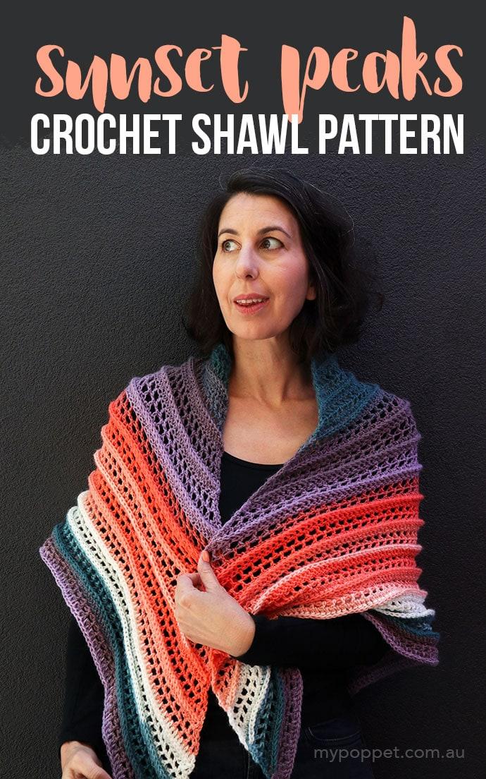 Free crochet shawl pattern - mypoppet.com.au