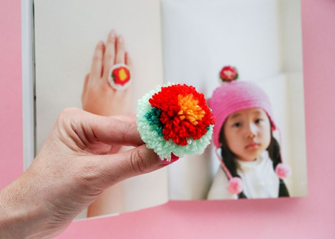 How to make a flower pom pom - mypoppet.com.au
