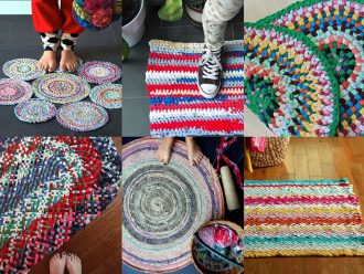 How to make a rag rug 7 ways - mypoppet.com.au