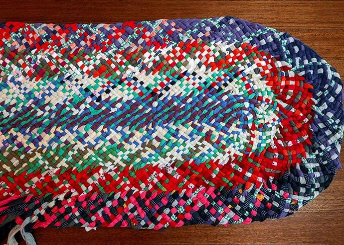 No sew braided rag rug - mypoppet.com.au