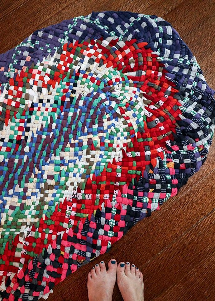 No-Sew Braided rug - mypoppet.com.au