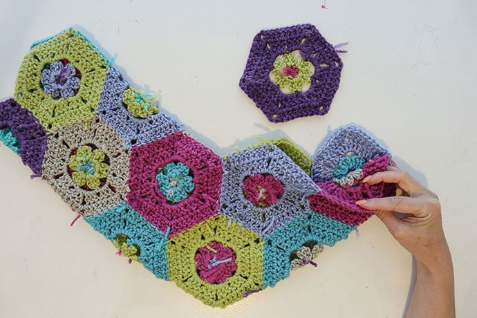 Hexagon crochet stocking pattern - mypoppet.com.au