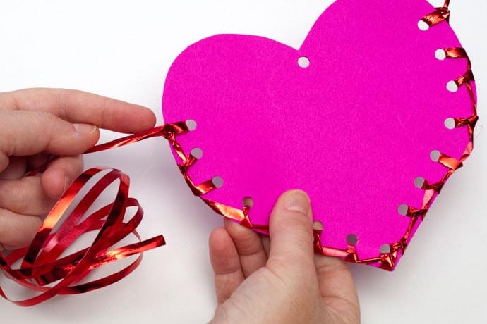 Valentine's Day Paper Craft Heart - mypoppet.com.au