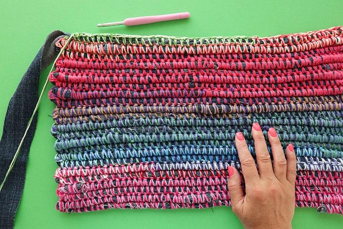 Crochet Denim Rag Rug - mypoppet.com.au