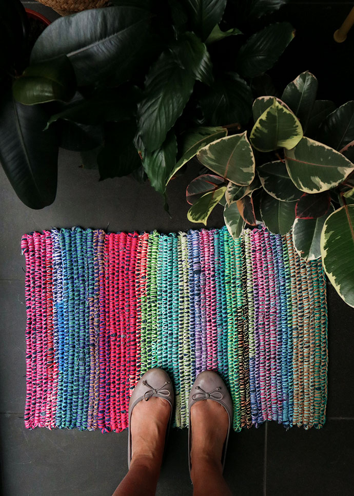 how to make a rag rug - mypoppet.com.au