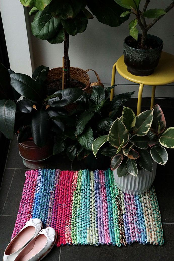 Upcycled Denim Rag Rug - mypoppet.com.au