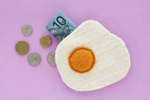 DIY Fried Egg Coin Purse