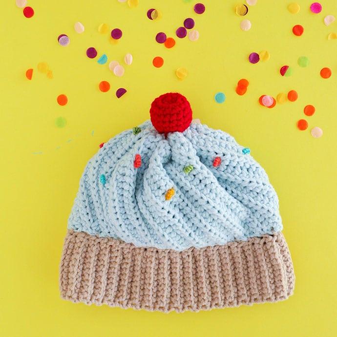 Cupcake Hat Crochet pattern - mypoppet.com.au