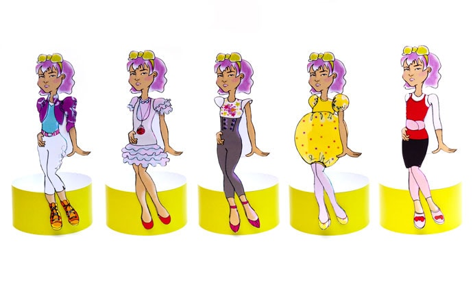 Print and Cut diy Paper Doll - mypoppet.com.au
