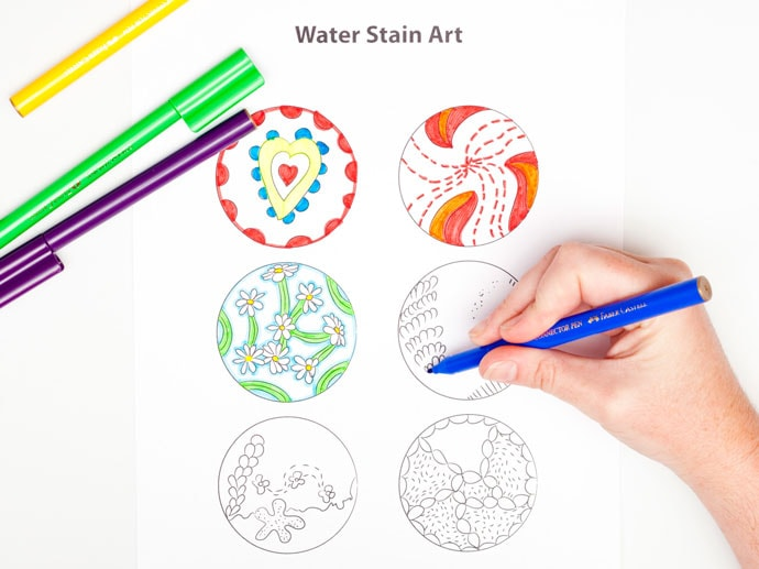 Water Stain Art - mypoppet.com.au