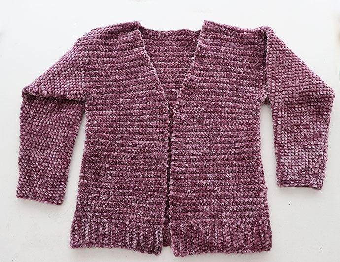 Velvet crochet cardigan pattern - bernat velvet yarn review - mypoppet.com.au