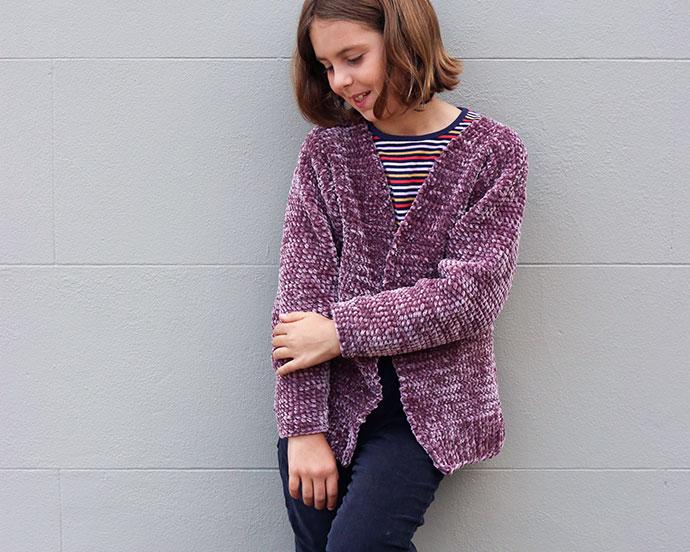 Girls Crochet cardigan pattern -mypoppet.com.au