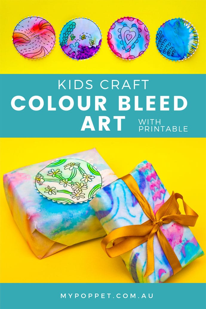 colour bleed art - kids craft project - mypoppet.com.au