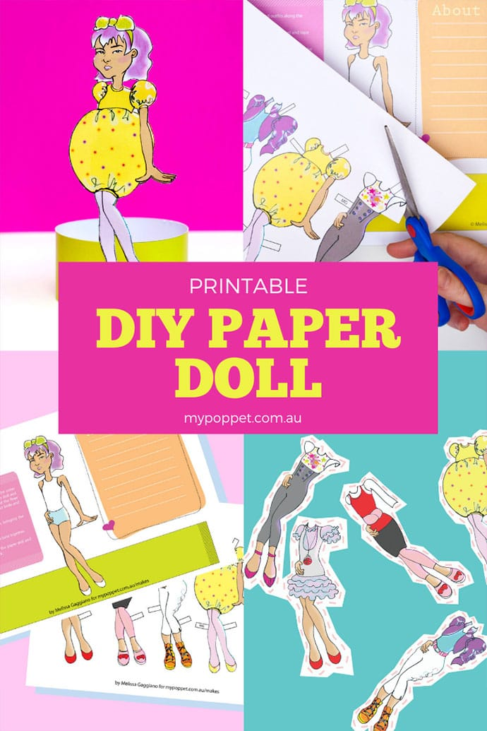 Printable Paper doll craft mypoppet.com.au