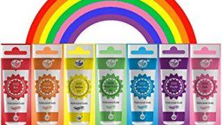 RAINBOW Gel Food Colouring  - 7 PK